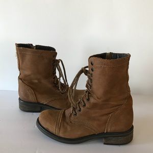 Steve Madden Tropa 2.0 Brown Leather Combat Boots